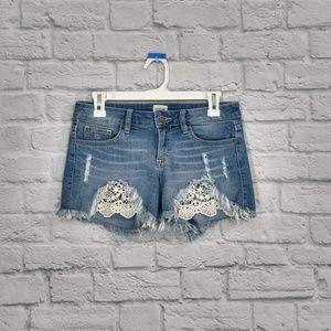Sneak Peek | Jean Shorts with Lace Insert